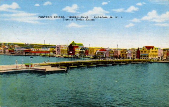 Vintage postcard of Punda: Willemstad, Curacao