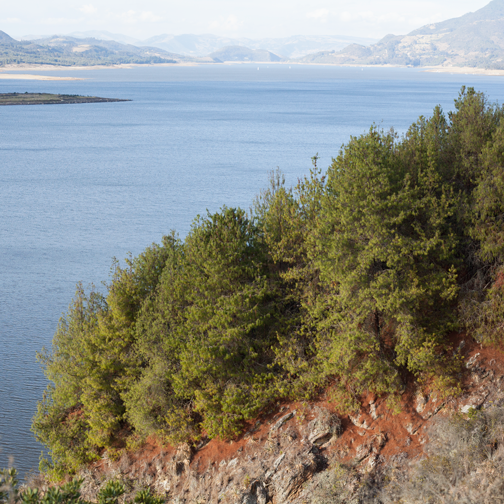 Tomine Reservoir next to Guatavita: near Bogota, Colombia