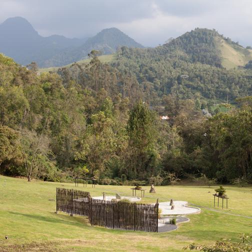 Zen garden at Recinto del Pensamiento: Manizales, Colombia