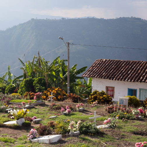 View from the cemetery in Salamina, Colombia