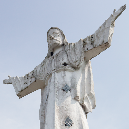 View of Cristo Rey statue in Belalcazar: Colombia