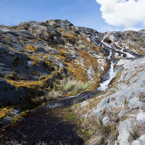 Nevado del Ruiz - streams at the Murillo turn-off: Manizales, Colombia